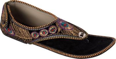 Rajasthanikart Women Black Flats