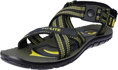 Pu Lite Men Yellow, Green Sandals