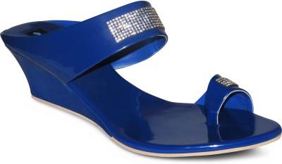 Zikrak Exim Women Blue Wedges