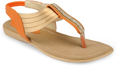 Something Different Women Beige, Orange Flats