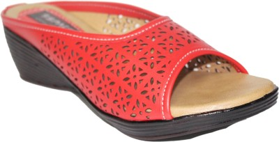 9SPACE Women Red Wedges