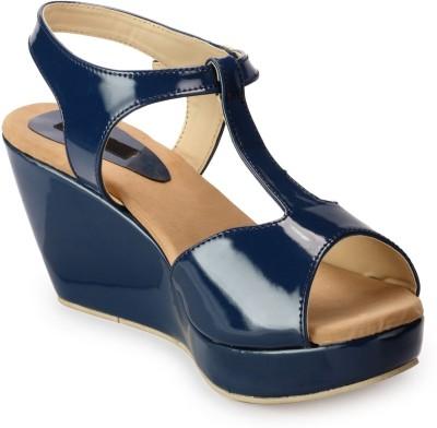 Fashionwalk Women Blue Wedges