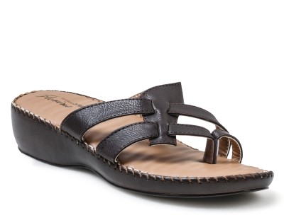 Action Shoes Florina Women Brown Flats