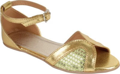 Glitzy Galz Girls Gold Flats