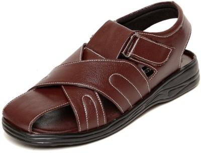 ZAPATOZ Men Brown Sandals