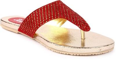 Jove Women Red Flats