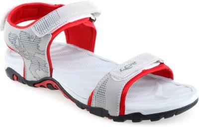 Lancer Men Grey, Red Sandals