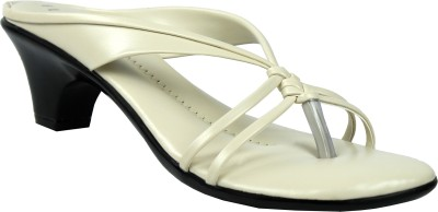 Leatherworld Florish Women White Heels