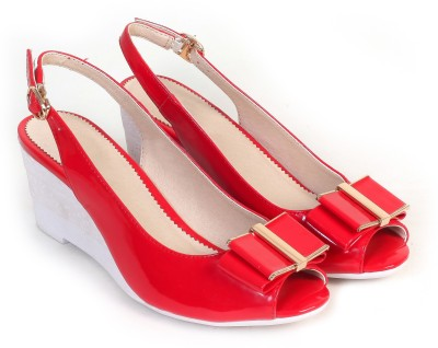 Bello Pede Women Red Wedges