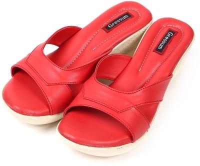 Gressum Women Red Wedges