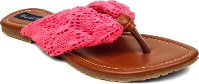Blue Button Women Pink Flats