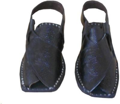 Kalra Creations Men Black Sandals