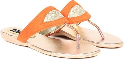 TEN Women Orange Flats