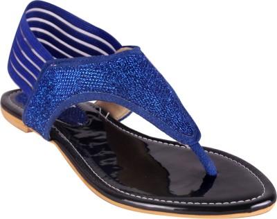 Angel Women Blue Flats