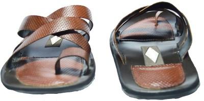 Shoe World Men Brown Sandals