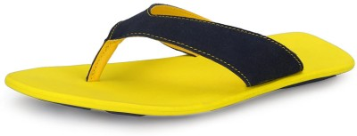 Nawaabs 3801 Men Navy, Yellow Flats