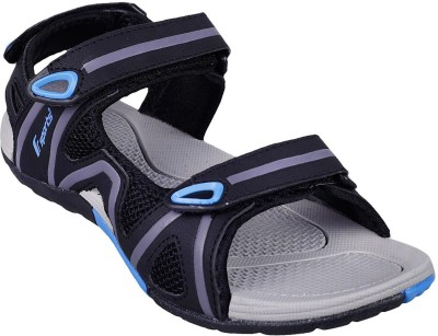 F sports Men Black, Blue Sandals