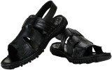 Cefiro Men Black Sandals