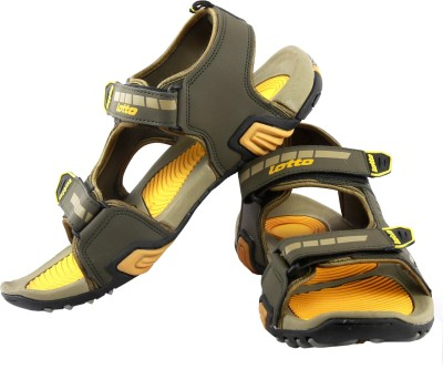 Lotto Icon Men Olive, Yellow Sandals