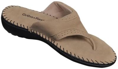 Ortho + Rest Women Beige Flats