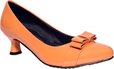 I DESIGN Women Orange Heels