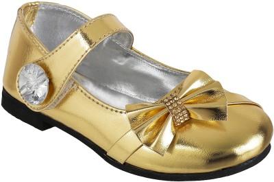 GELUKKIG Girls Gold Flats