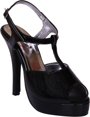 John Sparrow Women Black Heels