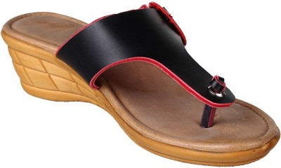 Bare Soles Women Brown, Black, Red Wedges