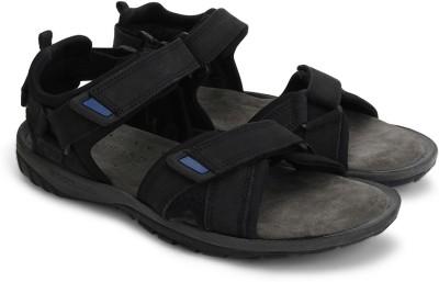 Woodland Men Black Sandals