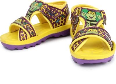 kidsfly Baby Girls, Baby Boys Yellow, Purple Sandals