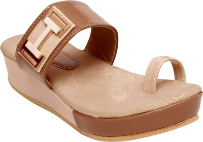 Unique Selection Women Beige Wedges