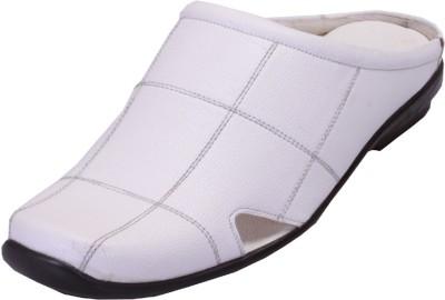 Shoebook Men White Sandals