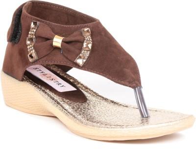 Stylistry Girls Brown Sandals