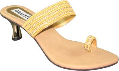 Faith 1000884 Women Gold, Yellow Heels