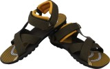 Vivaan Footwear Men Khaki Sandals