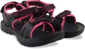Reebok Women GRAVEL/ ELECTRO PINK/ BLA Sports Sandals
