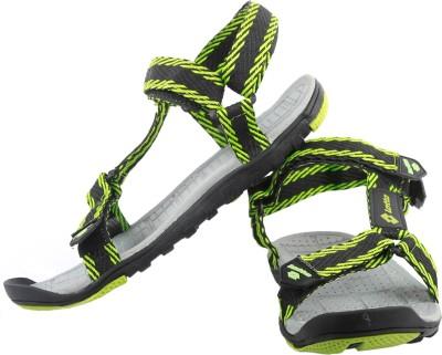 Lotto Warrior Men Black, Green Sandals