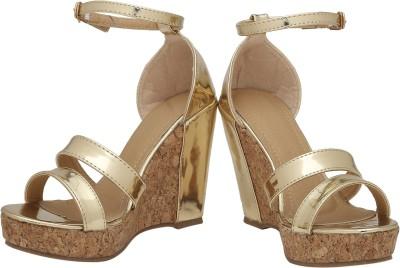 Rialto Women Gold Wedges