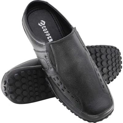 Copper Men Black Sandals