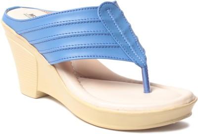 MSC Women Blue Wedges