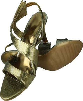 Spazzio Women Gold, Brown Heels
