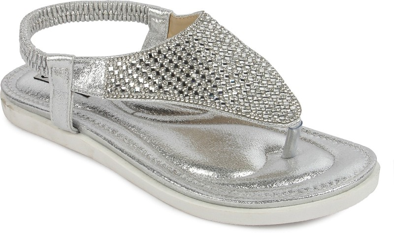 Footash Women Silver Flats