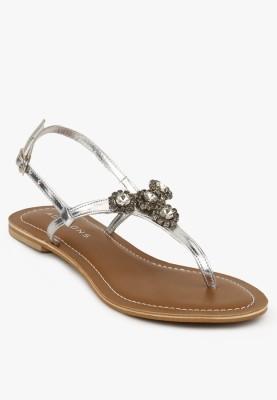 Addons Women Silver Flats