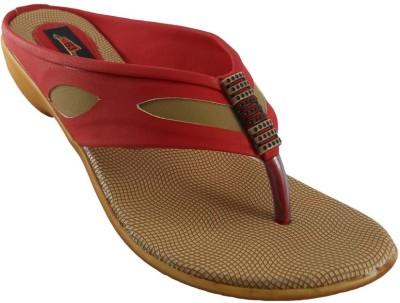 B3trendz Women Red, Tan Heels