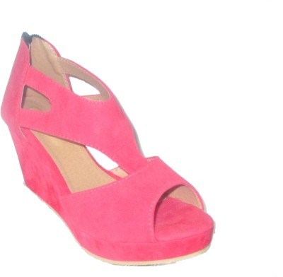 Fit2foot Women Pink Wedges