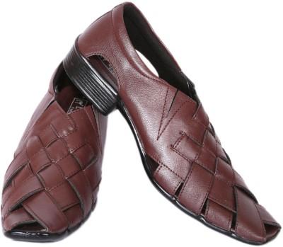 Luca Fashion Men Brown Heels