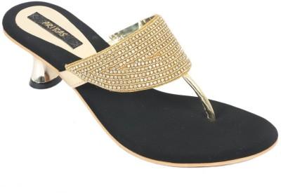 ARIBAS Women Gold Heels