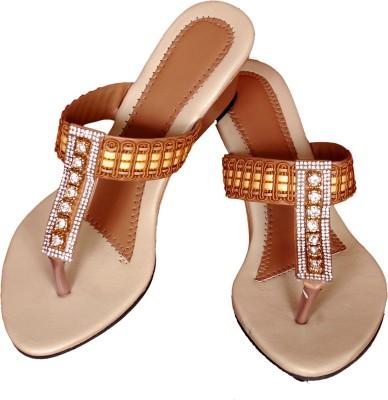 CT TECH Women Beige Heels