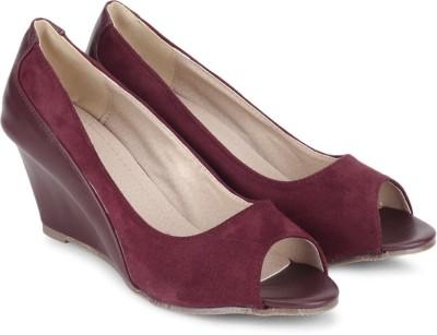 My Foot Women Maroon Wedges