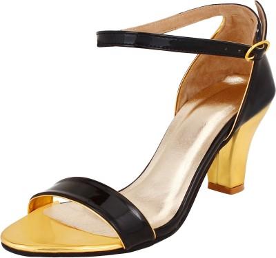 Glitzy Galz Women Black Heels
